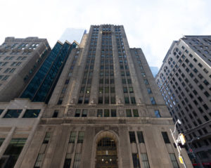 The heritage building on 320 Bay Street in Toronto, which originated as the Canada Permanent Trust Building, will be revitalized as an office space. Photo courtesy Menkes