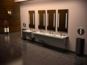 An integrated handwashing station allows project teams to deliver an efficient, complete, contemporary solution without compromising on design. Photos courtesy Zurn Industries