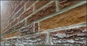 Figure 7: Spalling occurs when a brick face separates from the brick.
