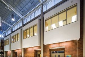 Fire-protective glass provides essential life safety while helping to create a welcoming environment for students and staff in a Greater Toronto Area (GTA) school.