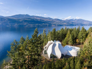 Designed by Patkau Architects, the Temple of Light in Kootenay Bay, B.C., has won the 2019 Wood Innovation Award. Photo courtesy Wood Works British Columbia