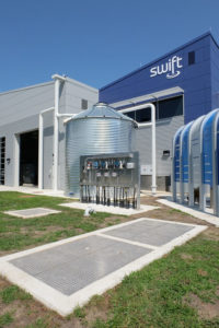 The water treatment facility includes a $25 million research centre that is capable of producing 4 million L (1 million gal) of SWIFT water per day.