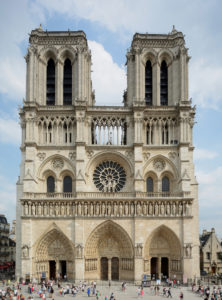 Architects and designers have created proposals to reconstruct the roof and spire of the iconic Notre Dame Cathedral in Paris which was destroyed in a massive fire earlier this month. Photo courtesy Wikimedia Commons