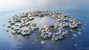 Bjarke Ingels Group reveals Oceanix City, the world's first resilient and sustainable floating community.Photos courtesy Bjarke Ingels Group