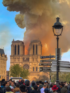 A massive fire on April 15, 2019, destroyed much of Paris' iconic Notre Dame Cathedral. Photo courtesy Wikimedia Commons