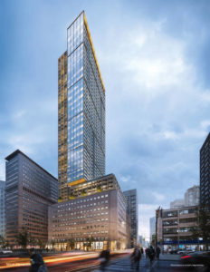 The United Building in Toronto will be North America's tallest architectural heritage retention development. Photo courtesy Davpart Inc.