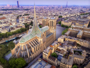 Belgian ecological architecture firm Vincent Callebaut Architectures (VCA) pays tribute to the Notre Dame with their Gothic and biomimetic forest proposal. Images © Vincent Callebaut Architectures
