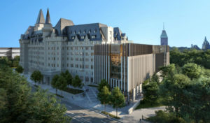 Ottawa's planning committee has voted in favour of the controversial modern addition to the historic Château Laurier hotel. Photo courtesy City of Ottawa