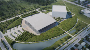 The Library and Archives Canada's (LAC's) new preservation centre in Gatineau, Québec, seeks to be a unique Canadian environmental project. Image courtesy Library and Archives Canada