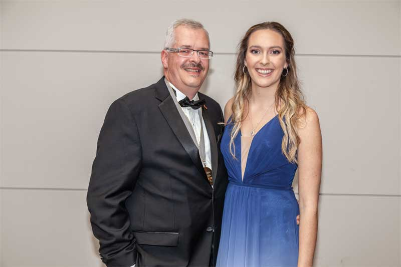 CSC president Paul Gerber and his daughter Emma.