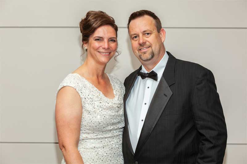 Incoming CSC president Greg Hofsted and his wife Tara.
