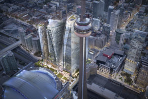 Union Park, a new mixed-use development in Toronto, seeks to be the largest in the city. Image courtesy Oxford Properties
