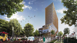 Montréal's winning green project seeks to transform a service yard into a sustainable community. Image courtesy Demain Montréal