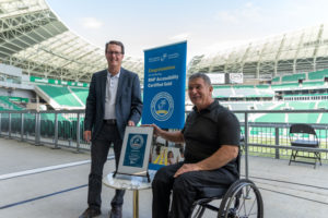 The Rick Hansen Foundation has awarded the Mosaic Stadium in Regina with its 'Accessibility Certified Gold' award. Photo courtesy City of Regina
