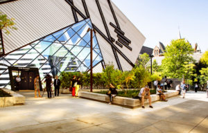 The Royal Ontario Museum's (ROM's) new terrace and plaza, designed by Hariri Pontarini Architects, are now open. Photo courtesy Hariri Pontarini Architects