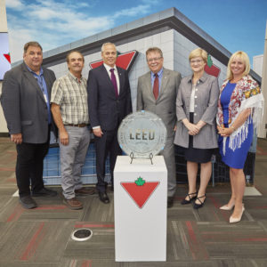 Plaque unveiling event for Canadian Tire's distribution centre that achieved Leadership in Energy and Environmental Design (LEED) Gold certification. Photo courtesy Canadian Tire