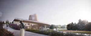 Designs have been revealed for a state-of-the art honey bee research facility at the University of Guelph (U of G), Ont. Renderings courtesy Moriyama & Teshima Architects