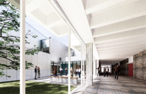 Ground has broken on the renewal and expansion of the University of Guelph's performing arts centre designed by Diamond Schmitt Architects. Image courtesy Diamond Schmitt Architects