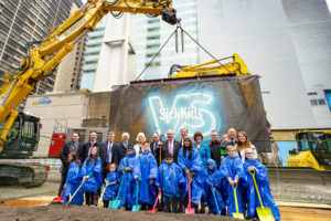 Ground has broken on the new Sick Kids Patient Support Centre (PSC) in Toronto. Photo courtesy CNW Group/SickKids Foundation