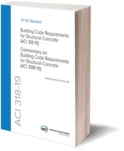 The American Concrete Institute (ACI) 318-19, Building Code Requirements for Structural Concrete, includes new and updated code provisions on one-way shear, two-way shear, shear wall drift capacity, seismic design, shotcrete, deep foundations, post-tensioning, precast, durability, lightweight concrete, and more.
