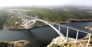 The viaduct over Almonte River located in Garrovillas de Alconétar, Cáceres, Extremadura, Spain, is the 2018 American Concrete Institute (ACI) Excellence in Concrete Construction Awards Overall Winner.