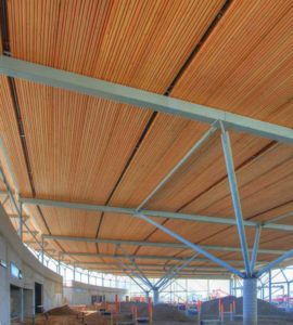 Askew's Uptown Supermarket features a nail-laminated timber (NLT) roof. Photo © Chris Allen