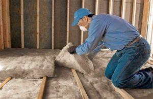 Installation of a batt insulation system.