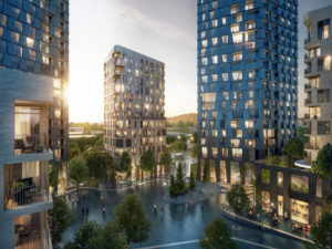 The Passages, a mixed-use residential development in Surrey was approved by the City of Surrey. Image courtesy Alison Brooks Architects
