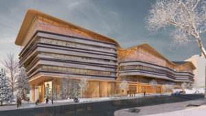 Designs have been revealed for the Ottawa Public Library and Library and Archives Canada joint facility. Image courtesy Diamond Schmitt Architects