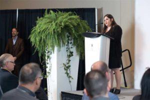 Group sales manager Randi Segal-Flanagan kicks off the awards ceremony.