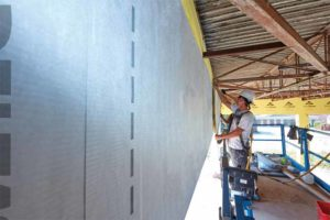 Water-resistive barriers (WRBs) are fundamental to the perfect wall because they protect sheathing, allow for the escape of moisture from inside wall cavities, and, when installed as part of an air barrier system, some WRBs can resist air movement both into and out of the building.