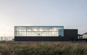 Designed by Lemay, the Beloeil Aquatics Centre in Beloeil, Qué., incorporates simplicity, luminosity, and neighbourhood integration. Photo courtesy David Boyer