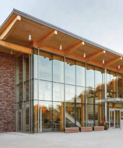 Designed by +VG Architects, the King Township Municipal Administration Centre in King City has won an Ontario Wood Design Award from the Canadian Wood Council's Ontario WoodWorks program and the Ontario Forest Industries Association. Photo courtesy A-Frame Inc.