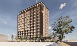 HDR is designing the tallest mass timber tower in Kelowna, B.C. Image courtesy HDR