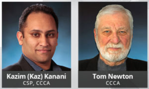 Kazim Kanani, CSP, CCCA, (Toronto Chapter) and Tom Newton, CCCA, (Calgary Chapter) have been nominated and elected to the CSC College of Fellows. Photos courtesy CSC