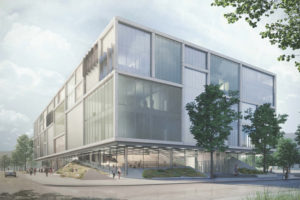A new five-storey building planned for the University of Toronto (U of T) Scarborough will create a major student hub. Image courtesy U of T Scarborough