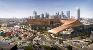 Calgary Stampede (Alta.) has revealed designs for the BMO Convention Centre expansion project. Rendering courtesy Calgary Stampede
