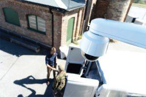 Network cameras provide secure access control.