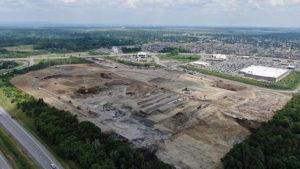 Ground has broken for the second Amazon fulfillment centre in Ottawa. Photo via Broccolini Instagram