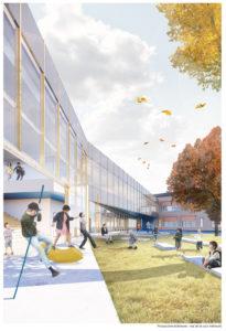 Lab-École unveils designs for six elementary schools in Québec. Image courtesy DMA architectes