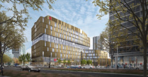 Ground has broken on York University's new Markham Centre Campus in Markham, Ont. Image courtesy Diamond Schmitt Architects