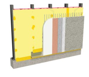 The integrated water-resistive barrier-air barrier (WRB-AB) assembly streamlines the entire construction process when different cladding selections are specified. Images courtesy Georgia-Pacific