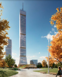 Toronto-based firm DIALOG has created a prototype design that could see hybrid mass timber towers sprouting in major cities and reaching as high as 105 storeys. Images courtesy DIALOG Architects