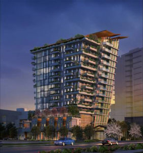 Construction has resumed on the award-winning tower, 'The Wedge,' in downtown Victoria, B.C. Image courtesy AVRP Skyport