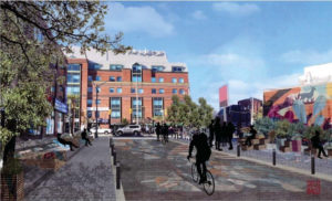 Re-envisioning Augusta Avenue (Toronto) as a post-COVID-19 Canadian main street is one of the design solutions featured in the Main Street Design Challenge Playbook. Image courtesy SUMO Project