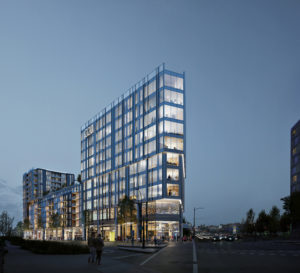 Revealing designs for Archetype, a mixed-use development designed by GBL Architects in Vancouver's newly revitalized False Creek Flats neighbourhood. Image courtesy GBL Architects