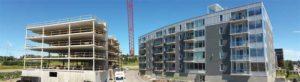 Luxenbourg phase III under construction (left) and Luxenbourg phase II after completion (right). Photos courtesy Dominic Lemieux