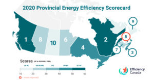 New report from Efficiency Canada places British Columbia in the lead for energy efficiency and shows Alberta and Ontario are losing ground. Image courtesy Efficiency Canada