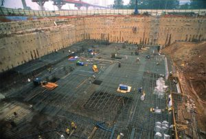 May Bank foundation concrete pour in Kuala Lumpur, Malaysia. Images courtesy Xypex Chemical Corp.