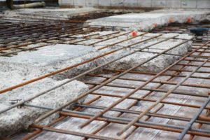 Figure 4: Localized repair of normally reinforced concrete slab prior to concrete placement.
